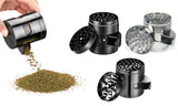 5-Piece: Flying High Titanium Herb Grinder with Easy-Access Window