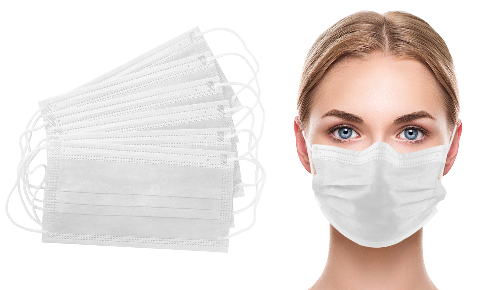 White 3-Ply Non-Medical Disposable Face Masks (50-Pack)