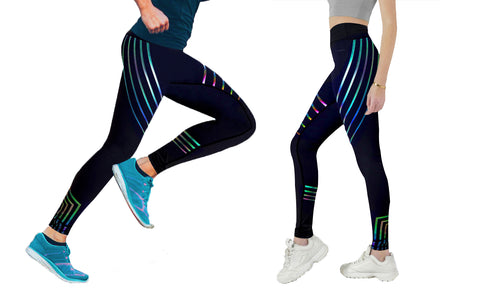 Glowing Luma Leggings with Elastic Waist