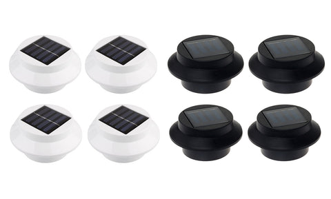 4-Pack: Solar-powered LED Outdoor Lights (Black or White