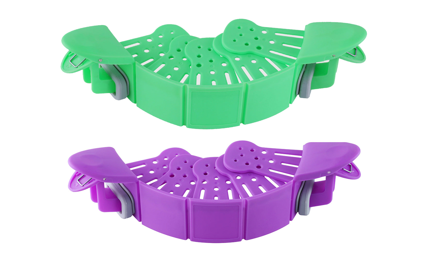 Hands-Free Heat Resistance Silicone Easy Clip On Strainer and Colander