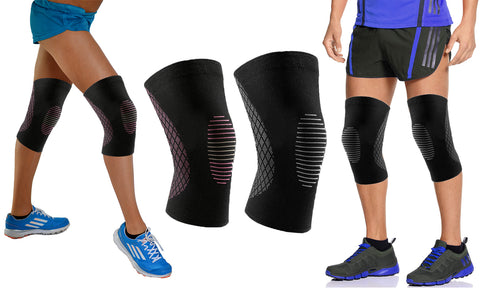 Knee Compression Sleeve with Gel Grip (1-Pair)