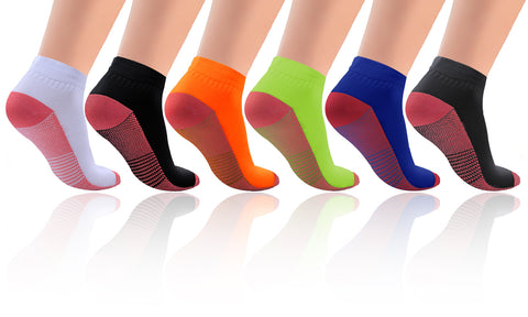 6-Pack: Copper-Infused Compression Crew Socks
