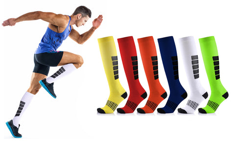 6-Pack : Graduated Mid Calf Compression Socks