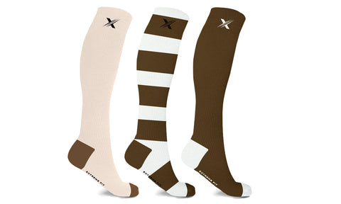 Unisex Sports Knee High Compression Socks (3-Pairs)