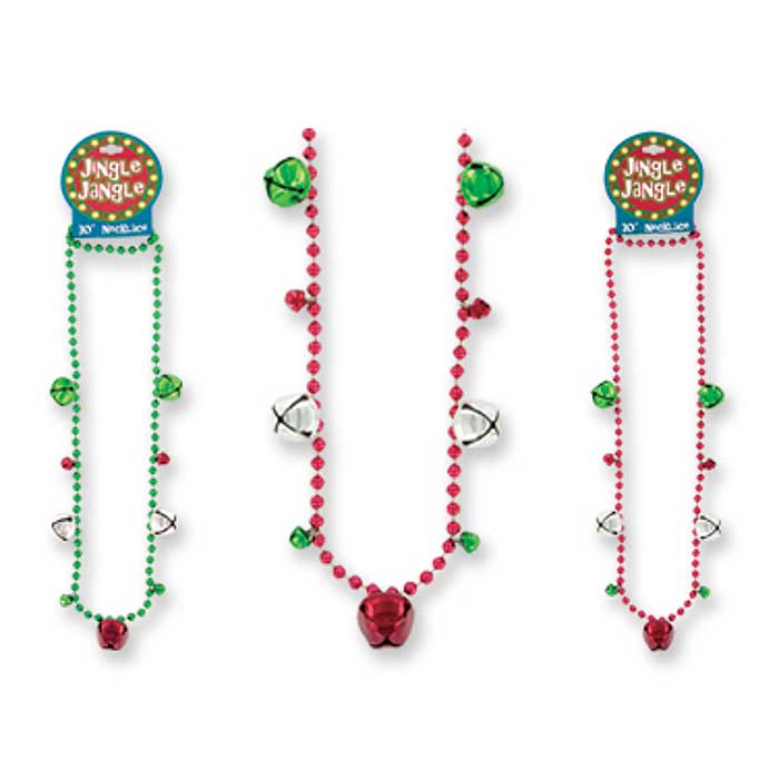 4-Pack Jingle Jangle Bell Necklace