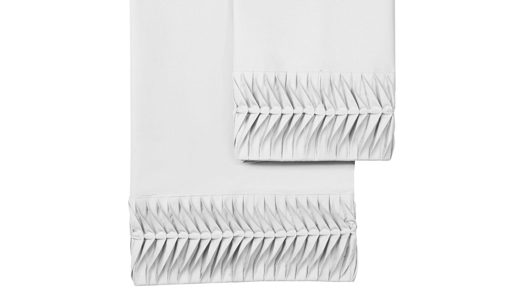 Arrow Pleated Microfiber Sheet Set (4-Piece)