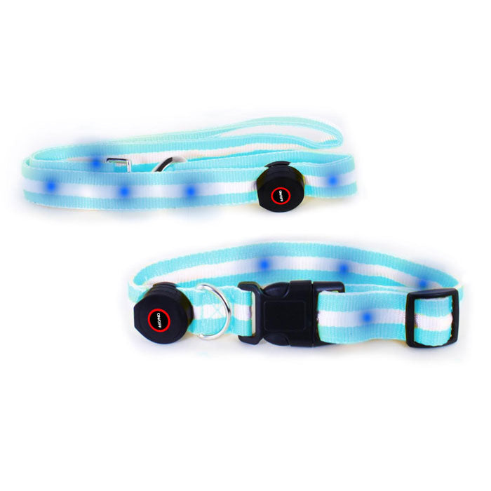 LED Lighted Pet Collar with Leash