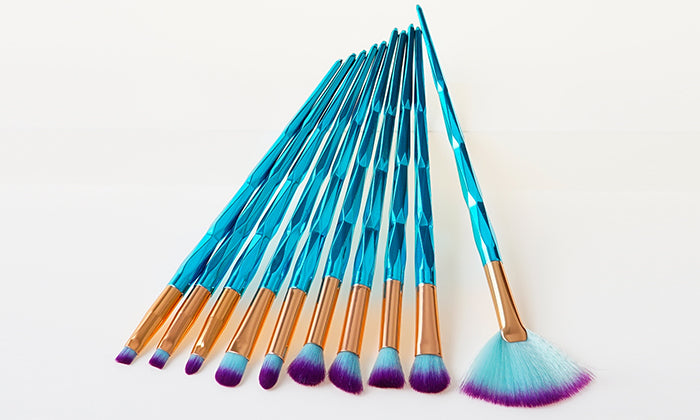 10-Pack: Diamond  Makeup Brush Collection