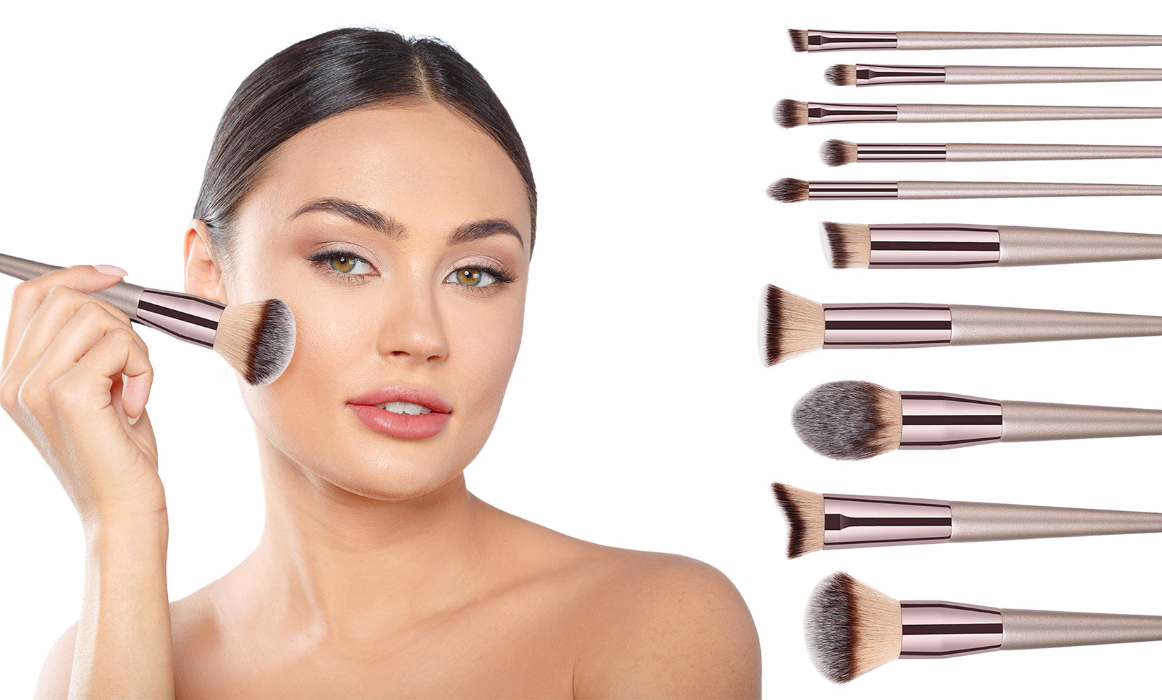 10-Piece: Glow Makeup Brushes