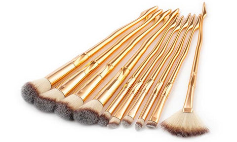 10-Piece Set: Color Fade Makeup Brushes