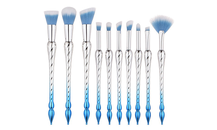10-Piece Set: Spiral Tower Makeup Brushes