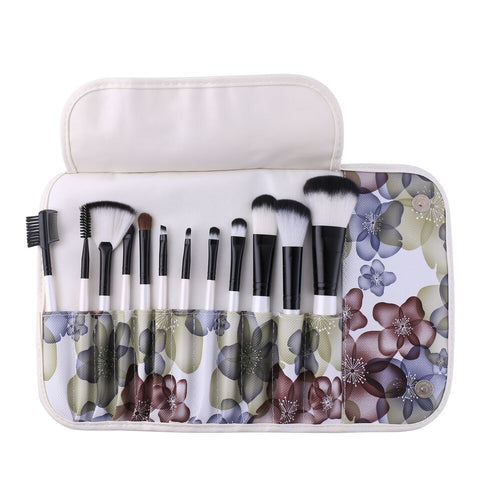 12-Piece: Professional Makeup Brush Set with Pouch