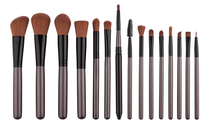 15-Piece Set: Essential Makeup Brushes