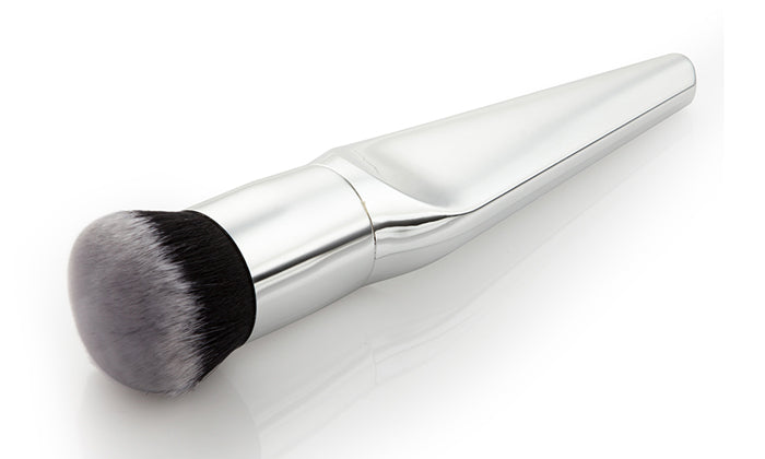 4-Piece Set: Silver Makeup Brushes