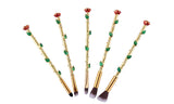 5-Piece Set: English Rose Makeup Brushes
