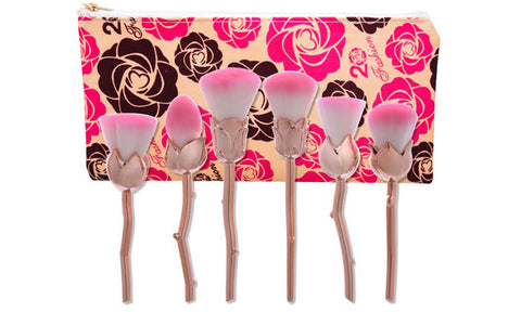 6-Piece Set: Floral Makeup Brushes