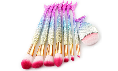 8-Piece Set: Under the Sea Makeup Brushes