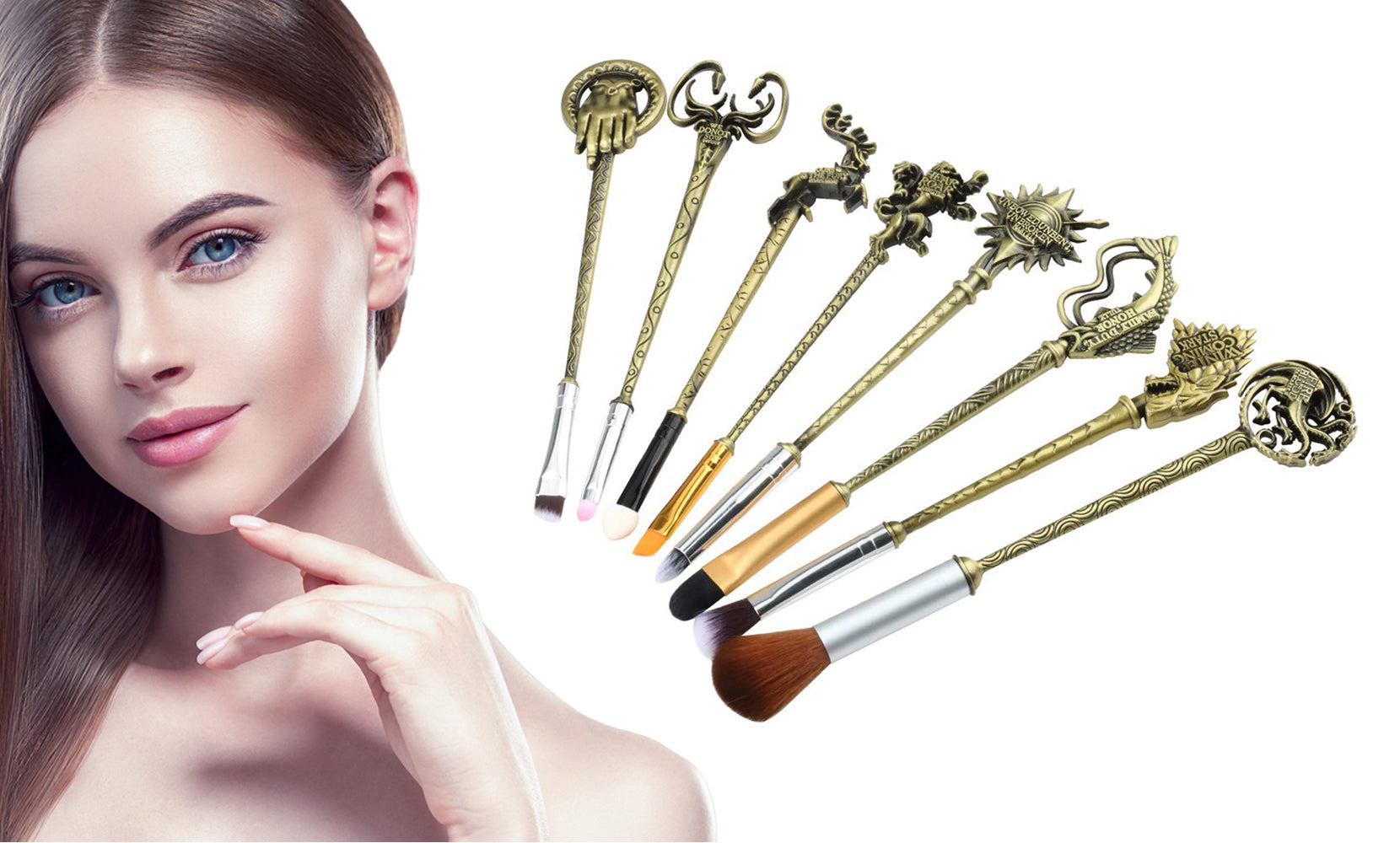 Game of Thrones Inspired Makeup Brush Set (8-Piece)