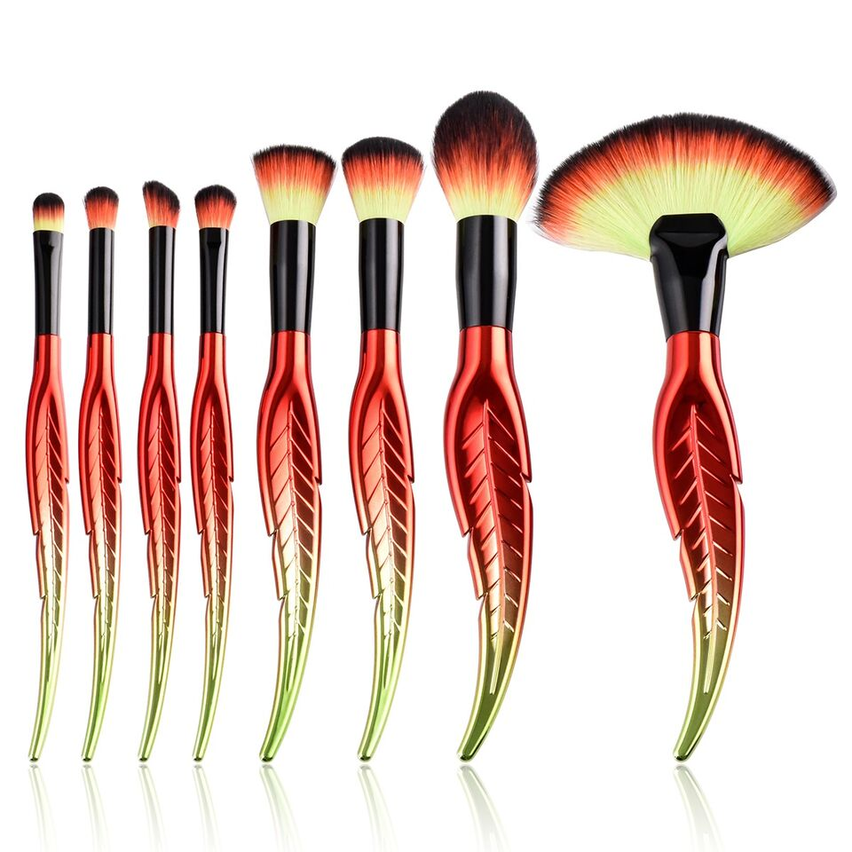 8-Piece Set: Ergonomic Makeup Brushes