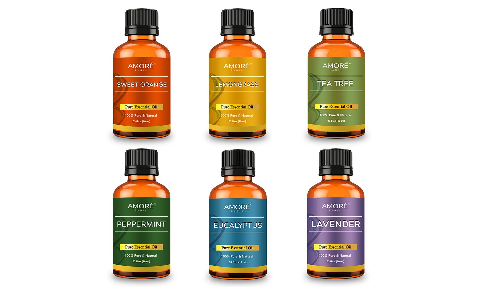 Aromatherapy 100% Pure Therapeutic-Grade Essential-Oils