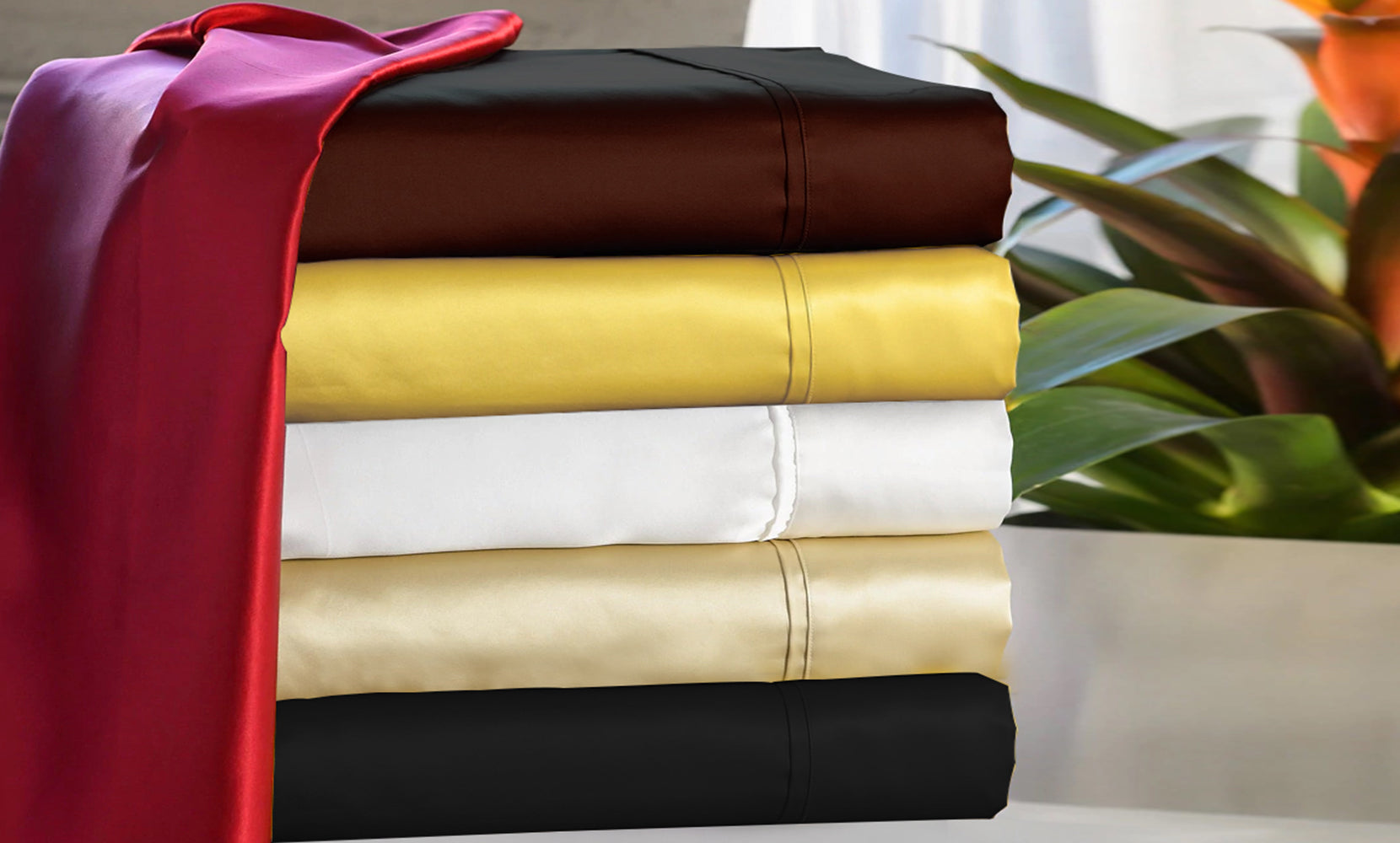 shopify-Silky-Soft Satin Sheet Set (4-Piece)-1