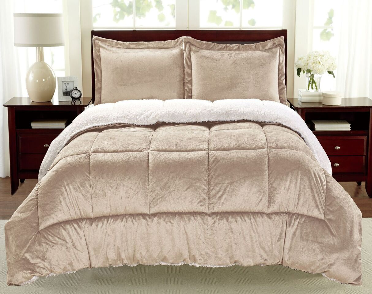 Micromink and Sherpa Comforter Set (2- or 3-Piece)