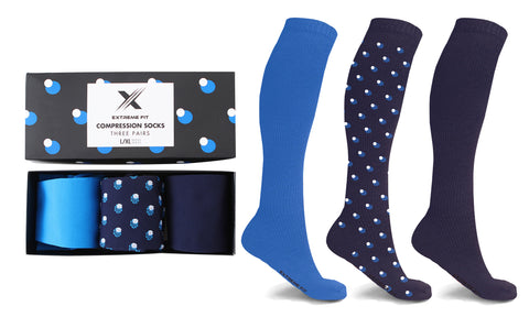 XTF Perfect Gift Compression Socks (3-Pairs)