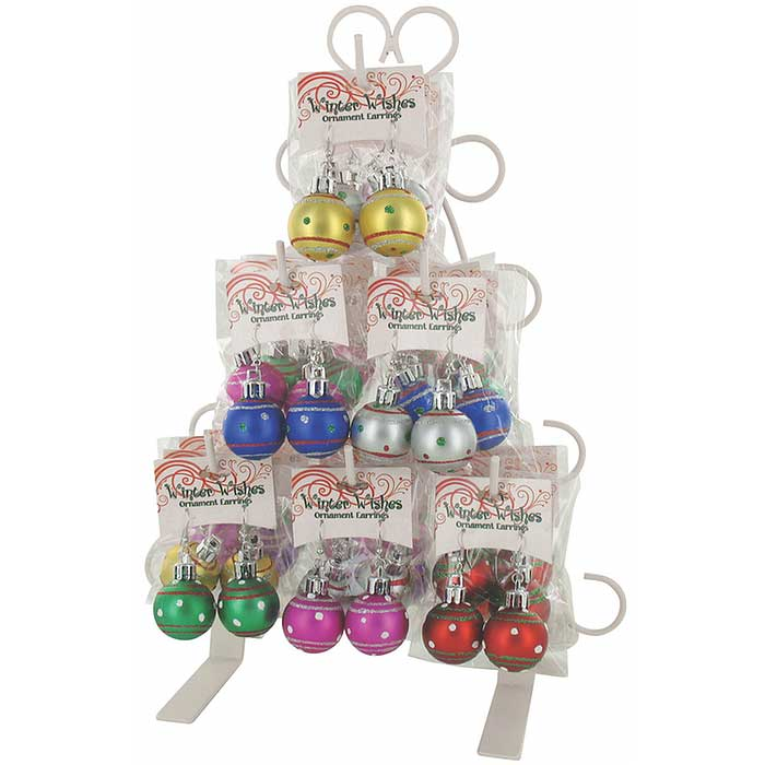 3-Pack: Christmas Ornament Earrings
