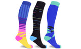 Fun and Novelty Knee-High Compression Socks (3 Pairs)
