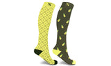 Mismatched Pineapple Knee High Compression Socks (1-Pair)