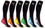 6-Pairs: Unisex Premium Gold Compression Socks