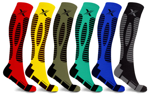 6-Pairs: Targeted Compression Socks