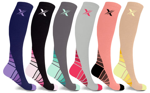 6-Pairs: Unisex Sports Compression Socks
