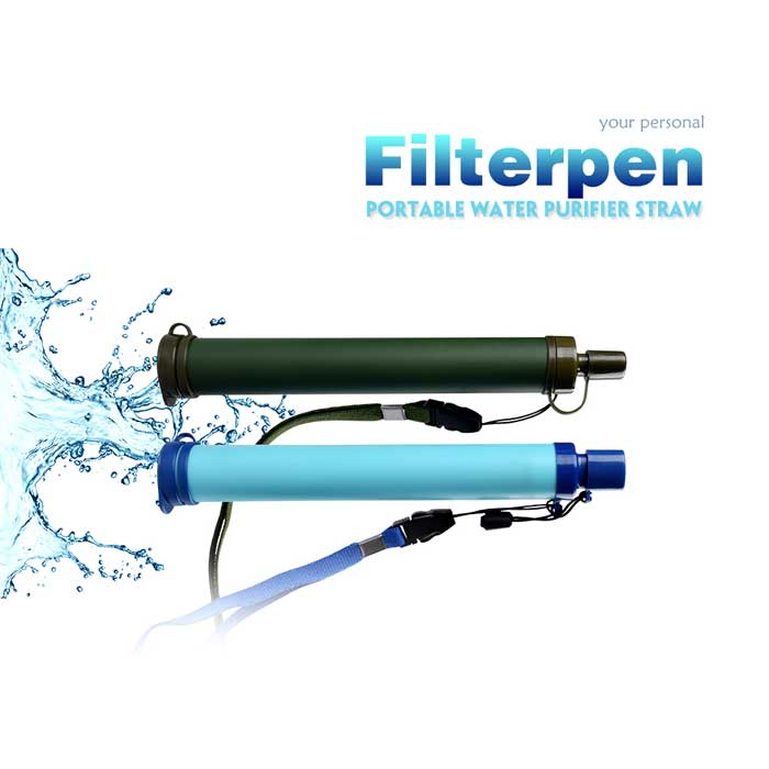 Portable Water Purifier Filter Straw Pen
