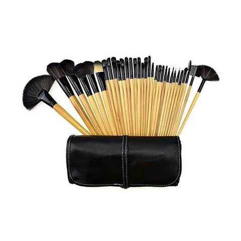 32-Piece : Professional Makeup Brush Set with Vegan-Leather Case