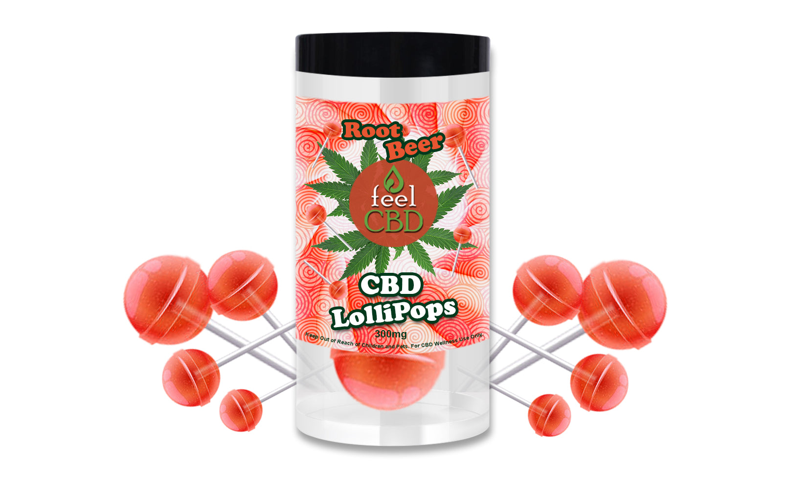 300 mg CBD Lollipops by feelCBD