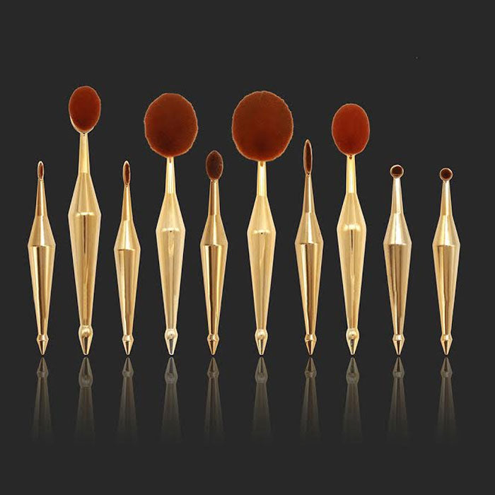 10PC : Round Makeup brushes