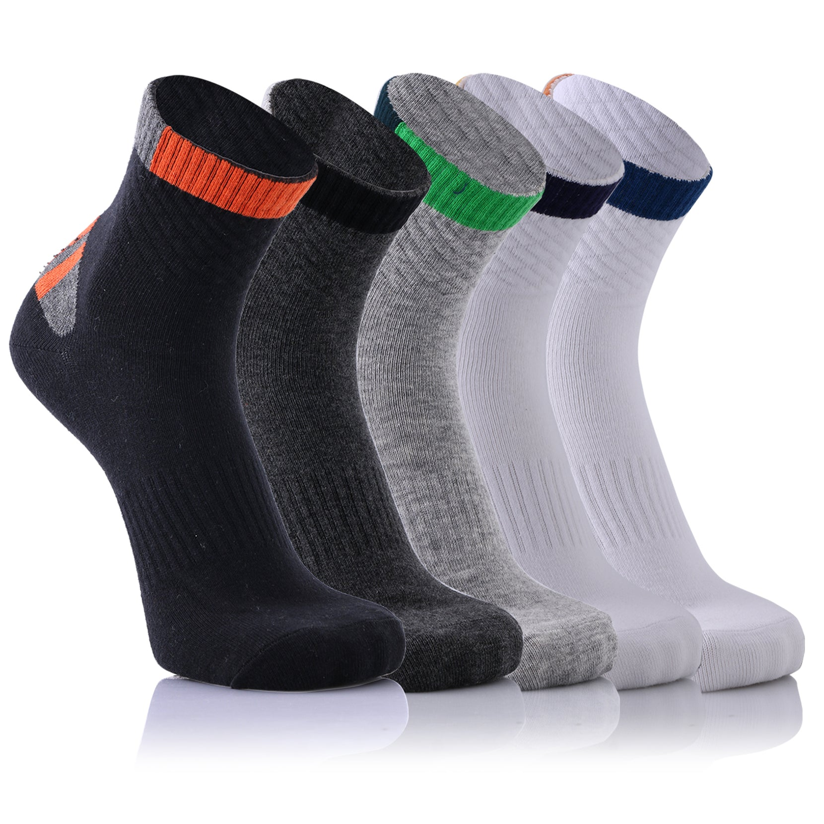 5-Pairs : All Day Relief Crew Length Compression Socks