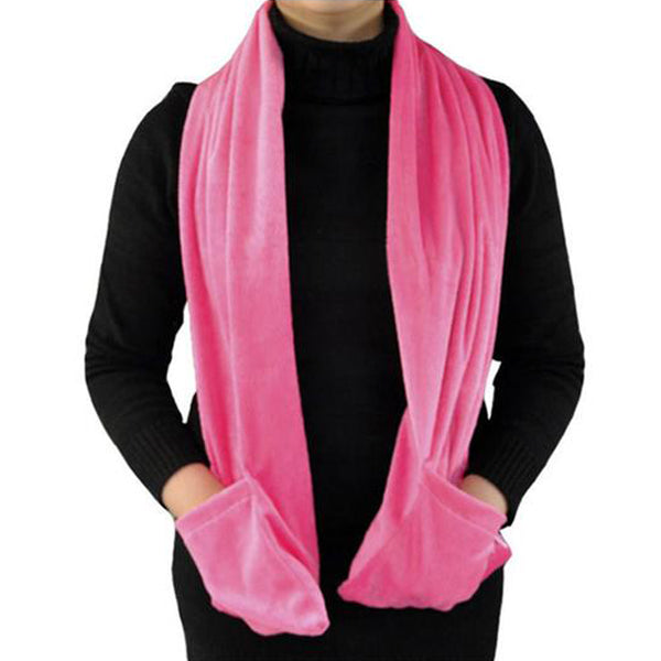 Soft Fleece Battery-Operated Heated Scarf