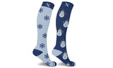 Mismatched  Snowman  Knee High Compression Socks (1-Pair)
