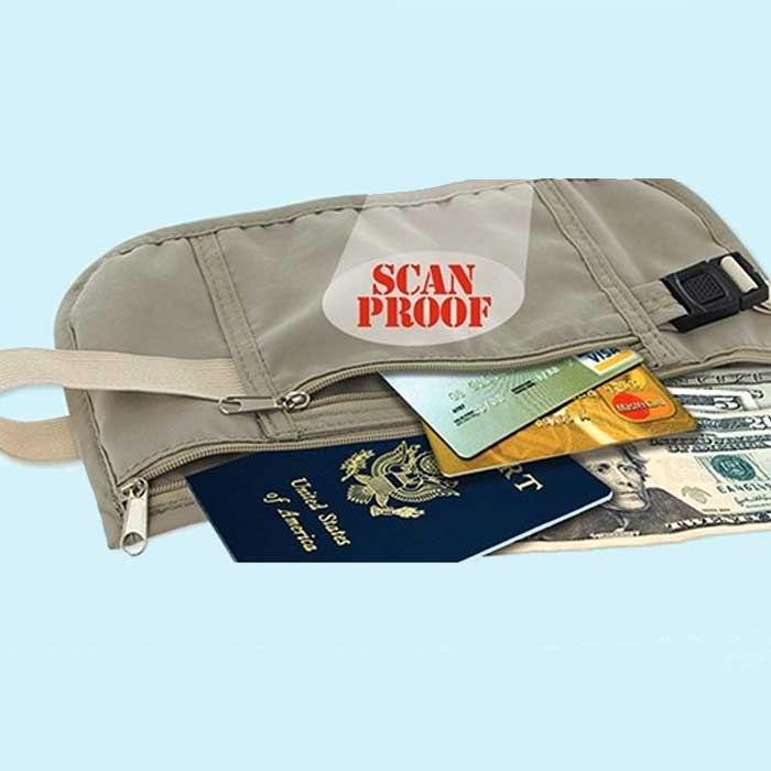3 Colors : Scan Safe RFID Protected Money Belt