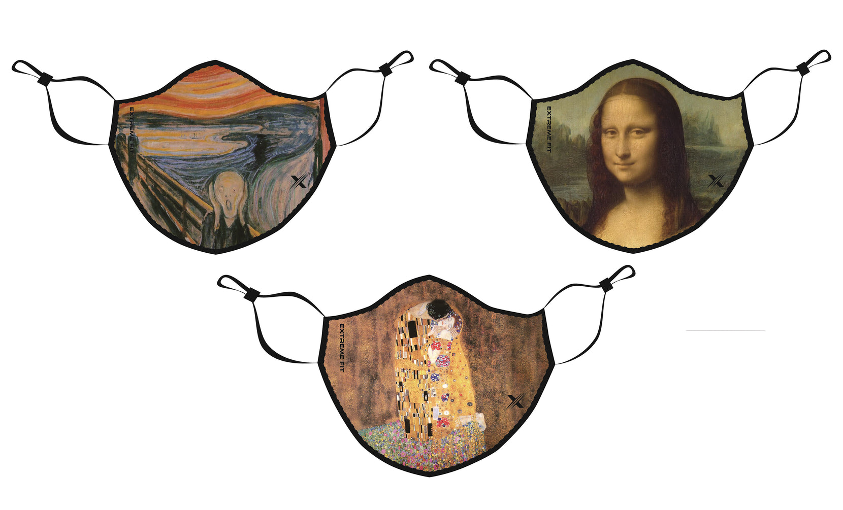 Famous Art Paintings Reusable & Washable 2-Layer Non-Medical Face Mask (3 -Pack)