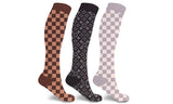 Designer Inspired Knee High Compression Socks - (3-Pairs)