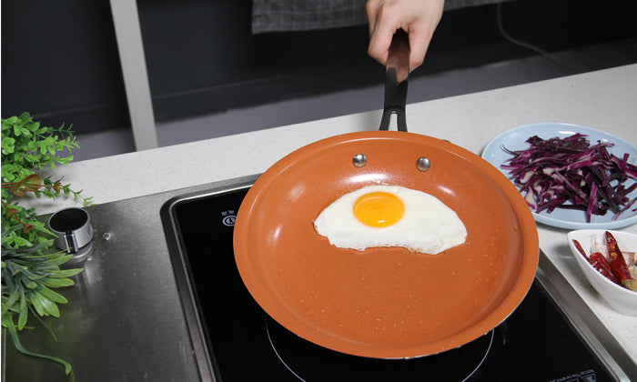 Red Copper Non-Stick Frying Pan