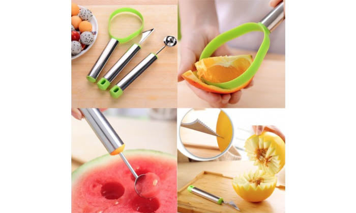 3-Piece Set: Fruit Carving Collection