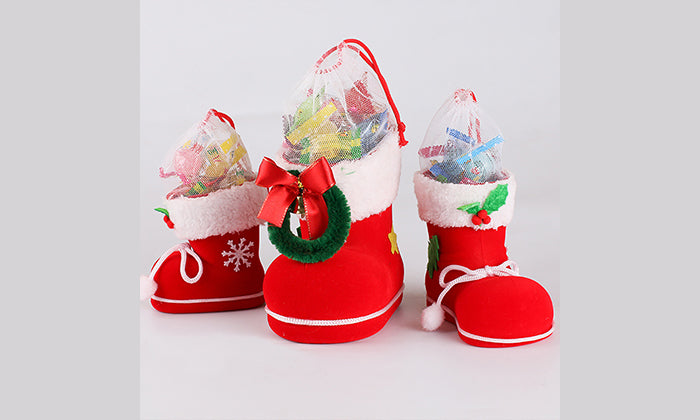 3-Piece Set: Santa's Boot Gift Boxes