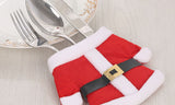 6-Pairs : Santa Claus Cutlery Holder Socks