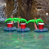 4-Pack : Inflatable Coconut Tree Drink Holder