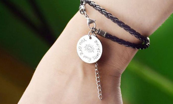 "Boho-Chic ""You Are My Sunshine"" Engraved Bracelet"